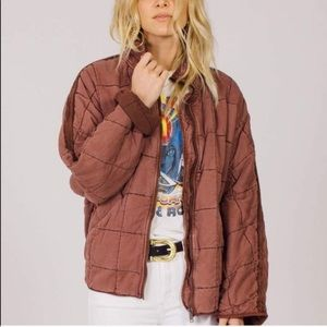 Free People Dolman Quilted Coat